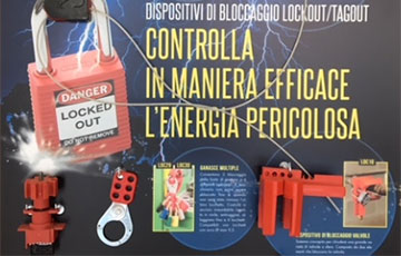Dispositivi di bloccaggio Lockout Tagout